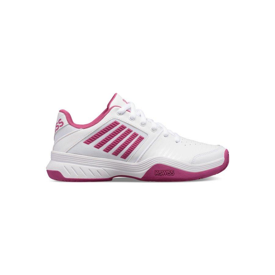 K-Swiss Tennis Shoes – Women's COURT EXPRESS (WHITE : CACTUS FLOWER)