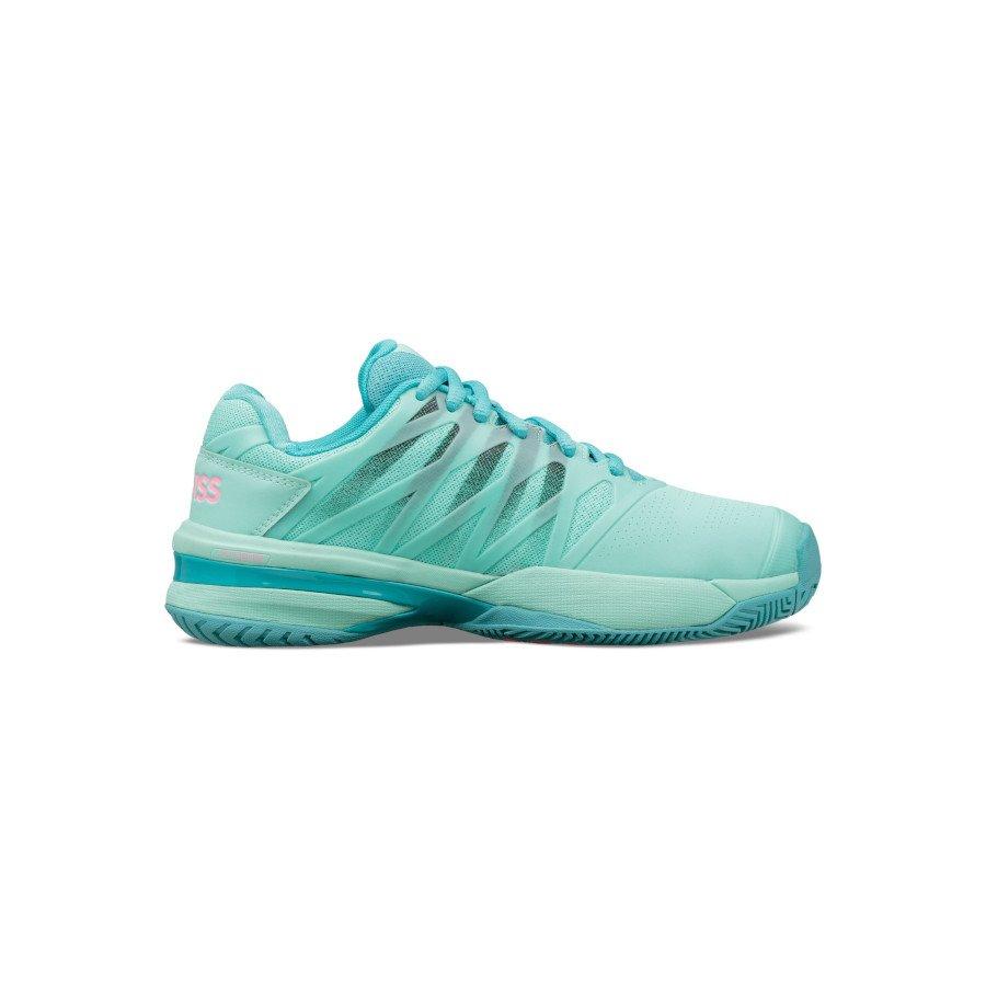 K-Swiss Tennis Shoes – Women's ULTRASHOT 2 (ARUBA BLUE : MALIBU BLUE : SOFT NEON PINK)
